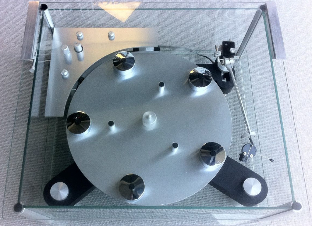 Transcriptors Skeleton Turntable with Vestigial Tonearm