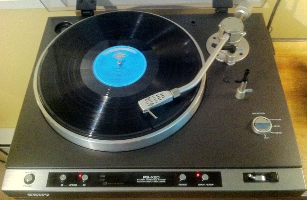 Sony PS-X60 Turntable Top View